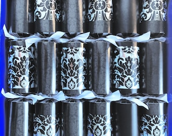 Box of 6 Black Magic Fill Your Own Christmas Crackers super sized large barrels