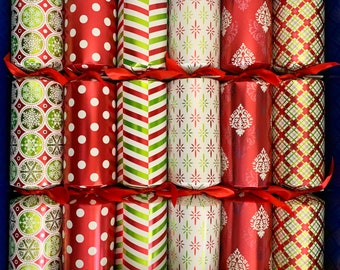 6 Selection Box Fill Your Own Christmas Crackers super sized large barrels