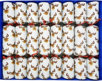 Set of 8 family fun Christmas Crackers with magic tricks- assorted designs