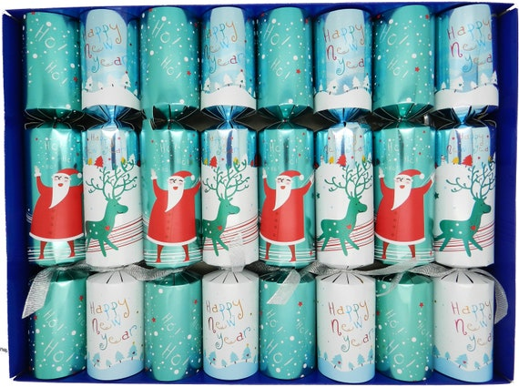 Fill Your Own Christmas Crackers - Box of 8 Winter Wonderland Design