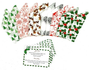 Set of 12 assorted Designer Christmas Paper Hats and Jokes/Trivia Set - suitable for Christmas Crackers