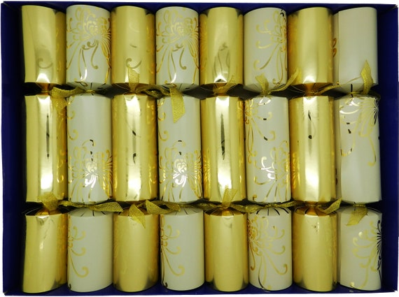 8 Golden Glory Fill Your Own Christmas Crackers