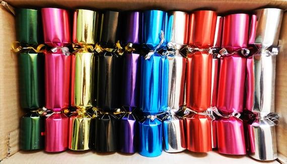 Catering / Bulk Buy Pack of 50 x 8.5 inch Bright Metallic Christmas Crackers