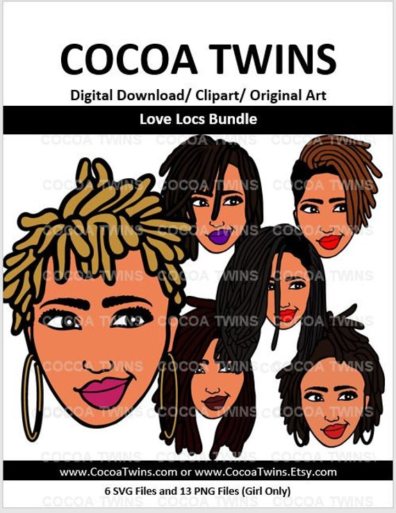 Love Locs Living My Best Life Svg Cocoa Twins Exclusivepng Etsy