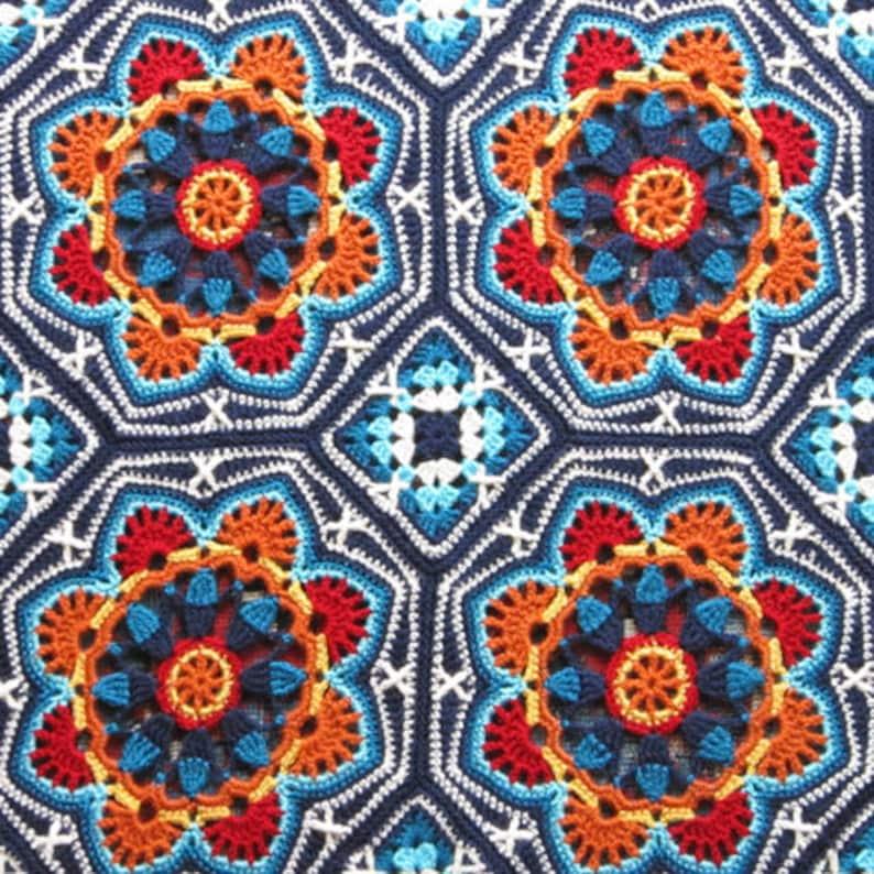 Persian Tiles Blanket Pattern by Jane Crowfoot image 0