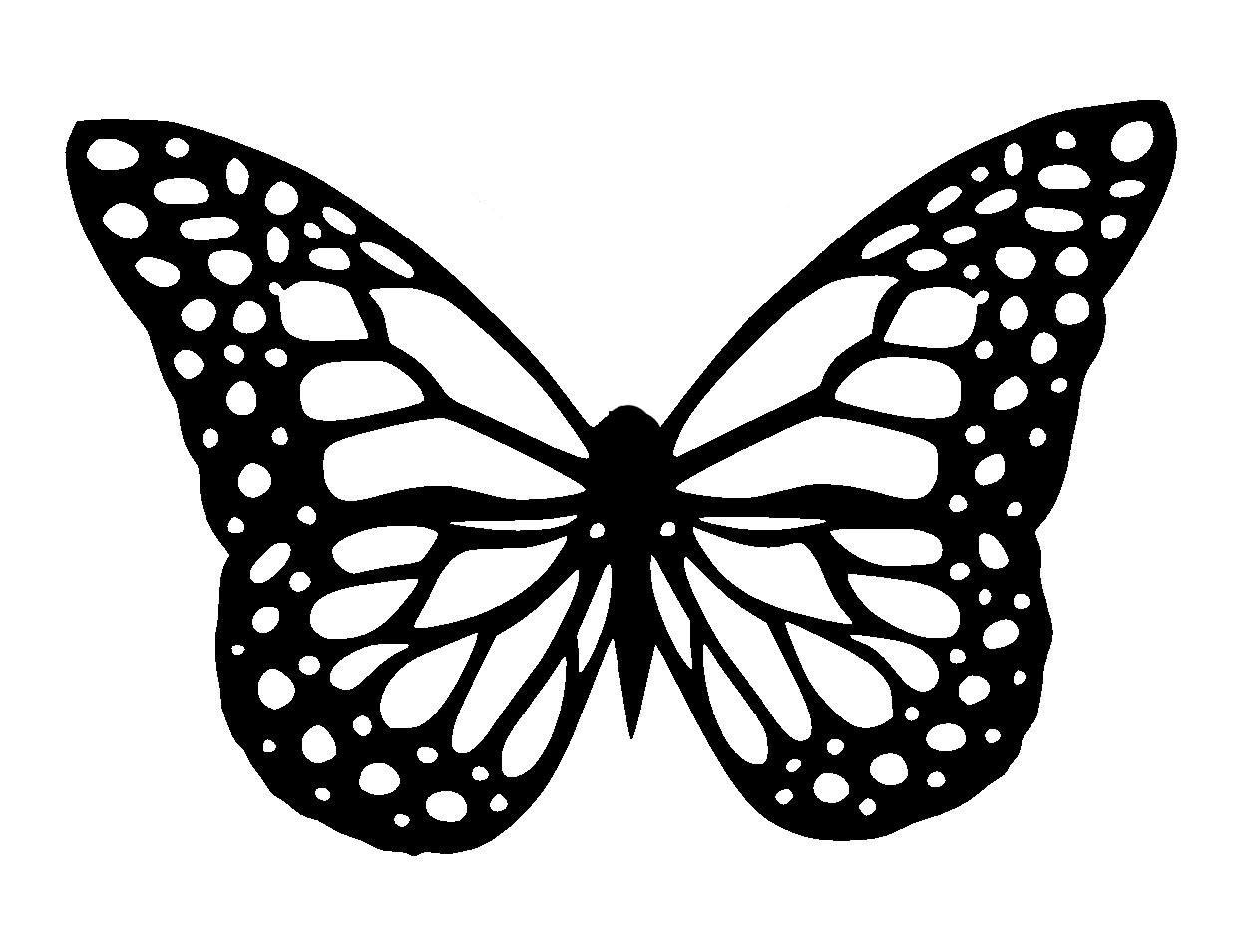 11.7/16.5 Butterfly stencil and template design 1. A3   Etsy