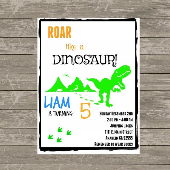 Dinosaur Theme Personalised INVITATIONS ANY AGE Boy/'s Birthday Party INVITES