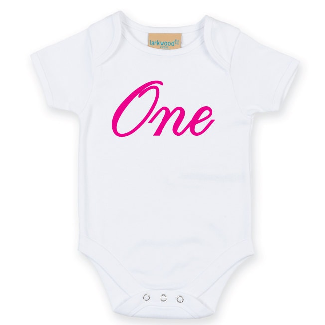e2e7d9f8607 One. First Birthday Baby Bodysuit. Baby Grow. One Birthday Outfit ...