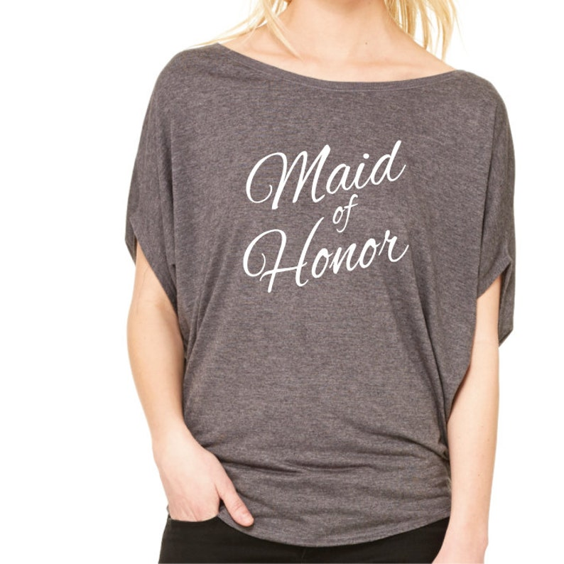 1e9b0a1f4 Maid Of Honor Shirt. Wedding Party Shirt. Bachelorette Shirt. | Etsy