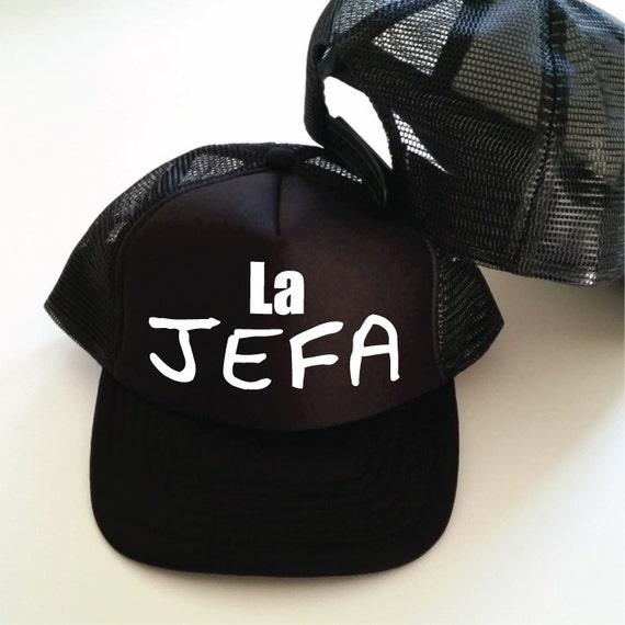 La Jefa Trucker Hat. Jefa Hat. Boss Gift. Boss Hat. Momager  ec68b837306a