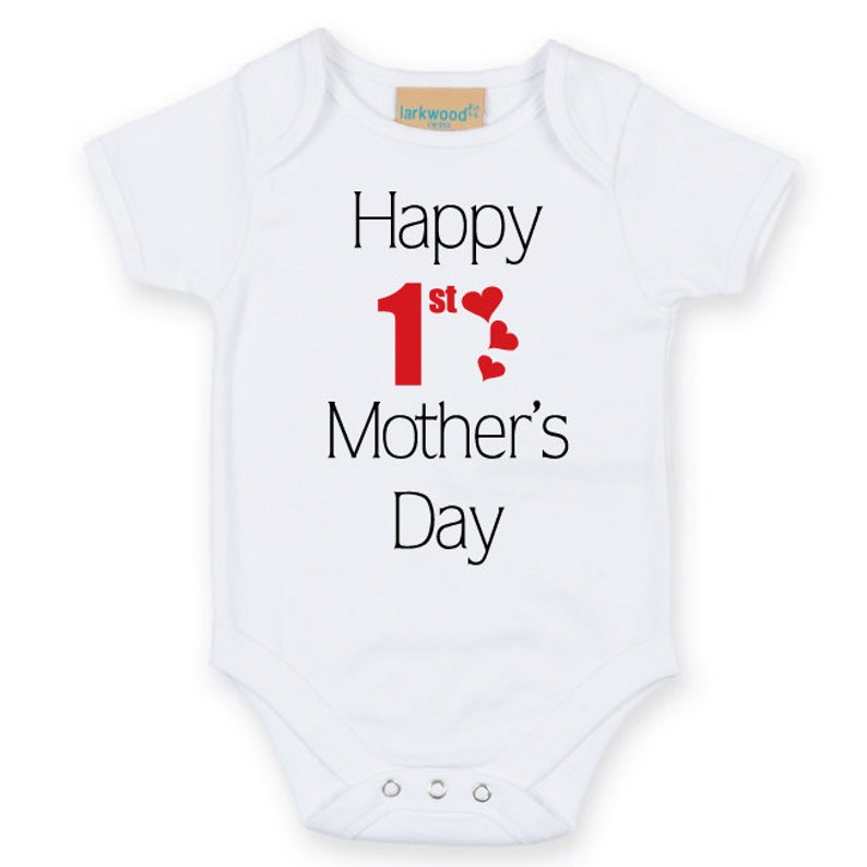 Personalised baby bodysuit vest grow 1st mothers day mummy nanny present gift