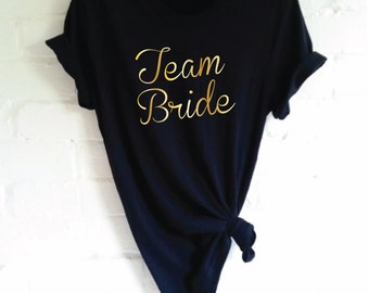 Team Bride T-Shirt. Hen Party Shirt. Wedding Party Shirt. Bachelorette Party Shirt. Bridal Party Shirt. Bridal Shower.