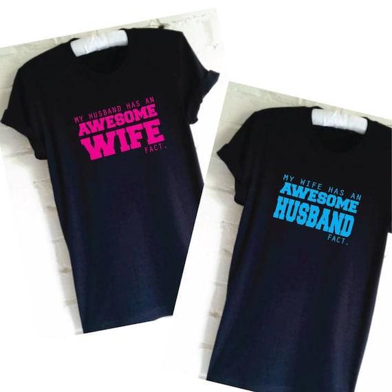 Husband and Wife T-Shirts. Couple Shirts. Matching Shirts. Set  c91688276c2d