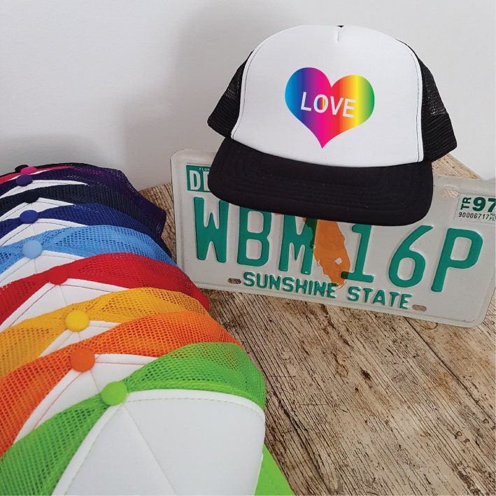 Rainbow Love In Your Heart Trucker Hat  01ea8a0a3dfd