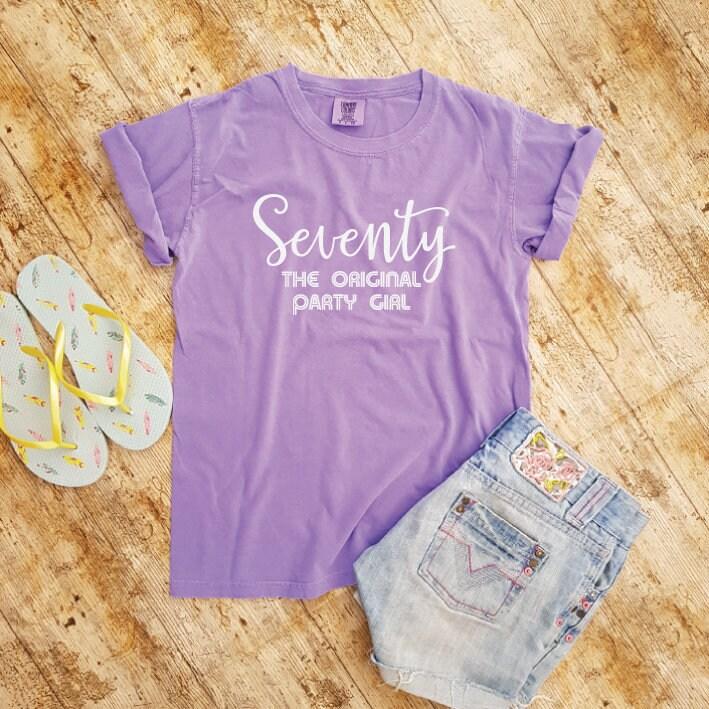seventy original party girl 70th birthday shirt 1948 70th
