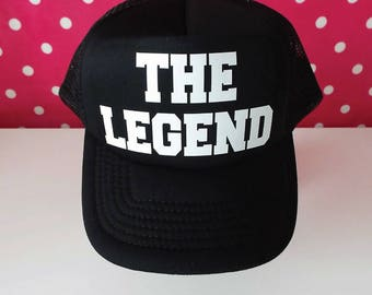 The Legend Trucker Hat. The Legend Hat. Legend Hat. Snapback. Trucker Hat. Dad Gift. Dad Hat. Grandad Gift. Father's Day Gift.