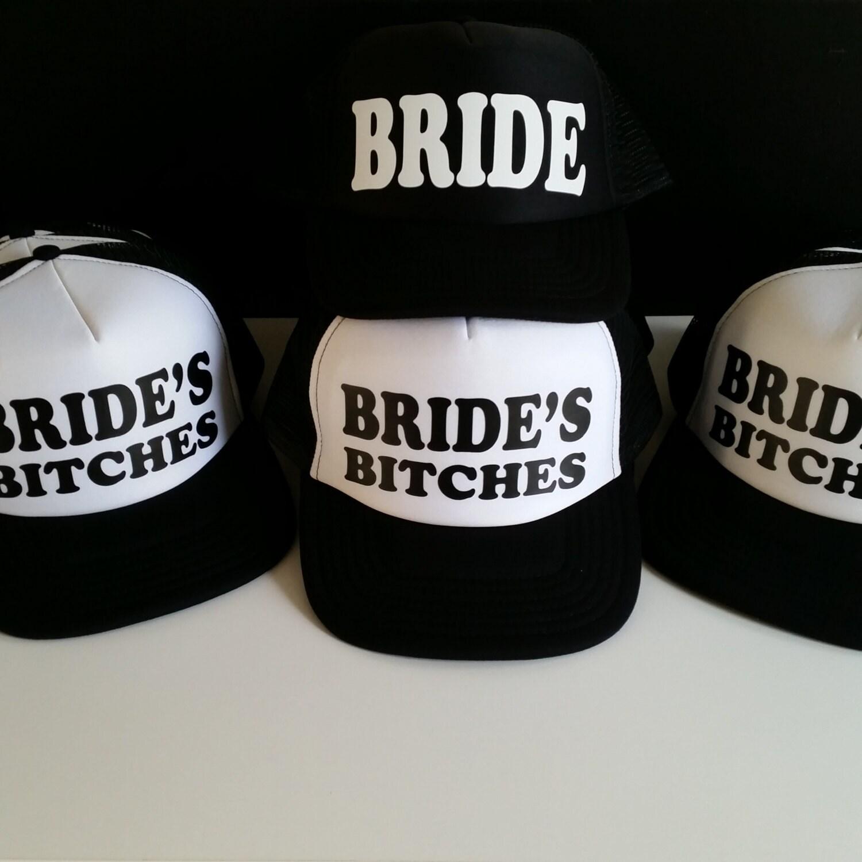 0ce8b790a7e Set Of 6 Bachelorette Party Hats. Bride Hat. Bride s Bitches Hats. Hen ...