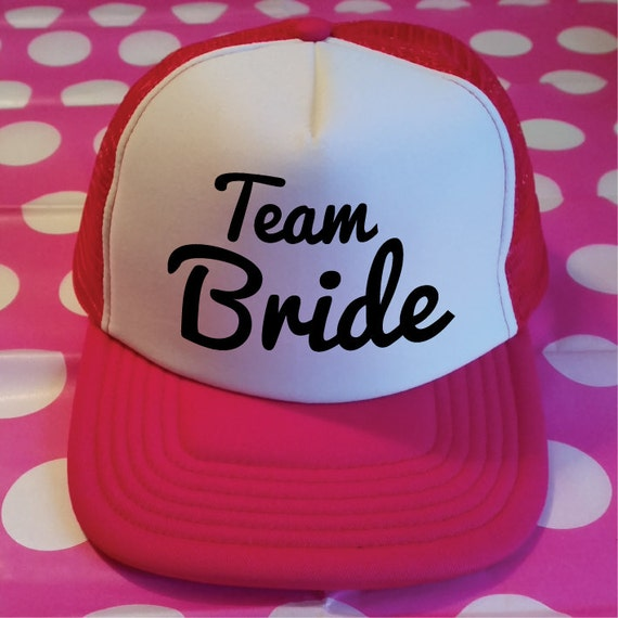 Team Bride Hat. Bridesmaid Hat. Maid Of Honor Hat. Wedding  a236fbbd650