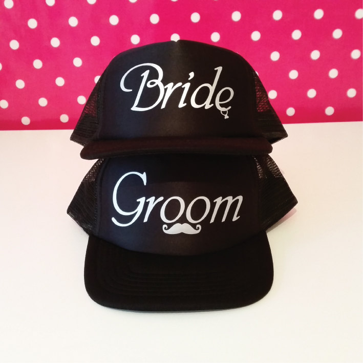 c2c132390 Bride and Groom Hats | Matching Hats | Trucker Hats | Gifts For The ...