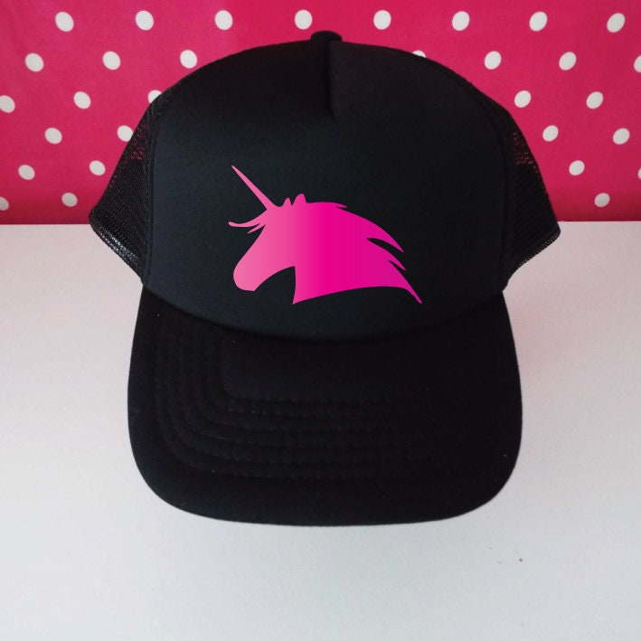 3679d80fe02 Glitter Unicorn Trucker Hat