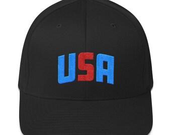 3fb8a15a USA - Colors - Flexfit - Structured Twill Cap