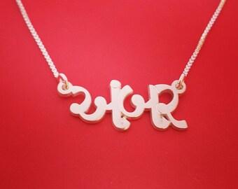 Gujarati Name Necklace Gujarati Name Design Birthday Gujarati Name Pendant Gujarati Necklace With Name Gujarati Jewelry Gujarati Letters