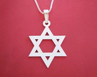 Star of david charm star of david necklace for men star of david necklace mens gift from israel
