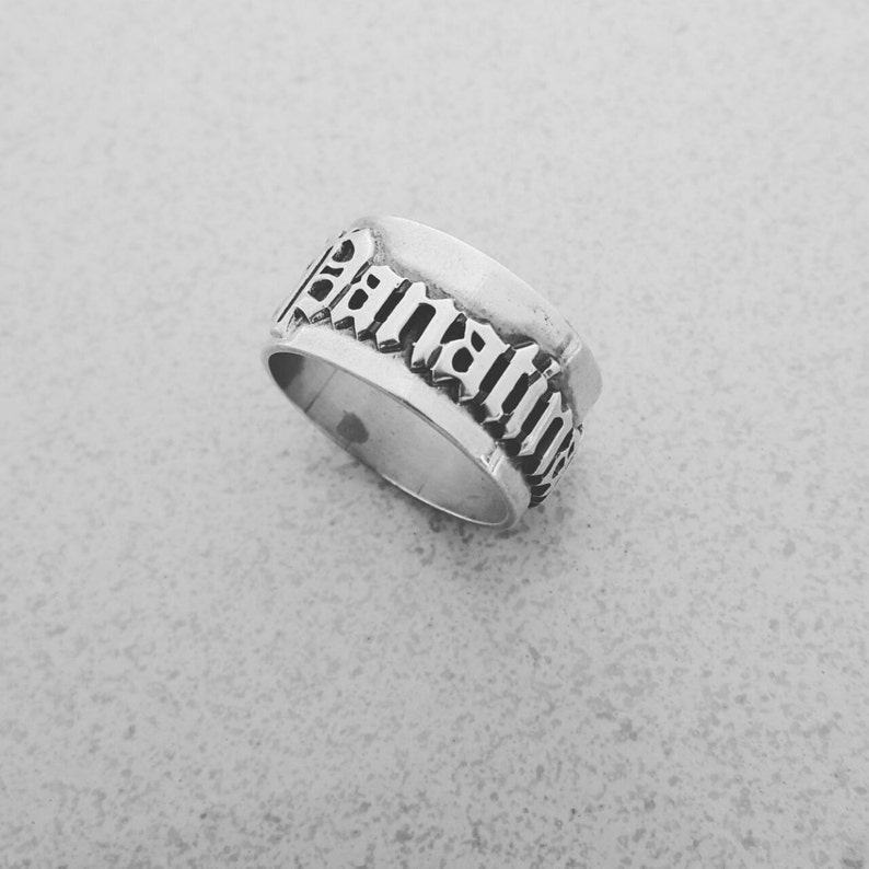Birthday Gift Boyfriend Name Ring Silver For Mentor