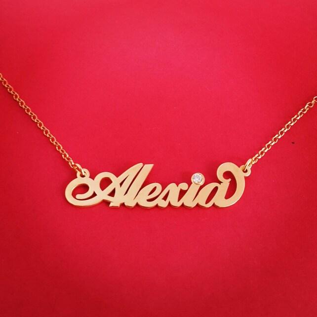 18 k Gold Name Halskette 18ct Gold Namenskette 18k Gold Name | Etsy