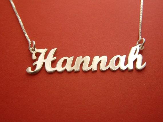 Name Halskette Hannah Namen Kette Geburtstag Geschenk Name | Etsy