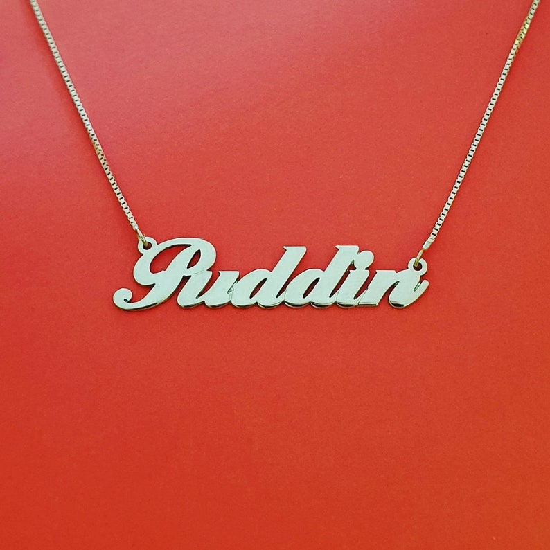 Custom Made Ballantine Font Any Name Necklace
