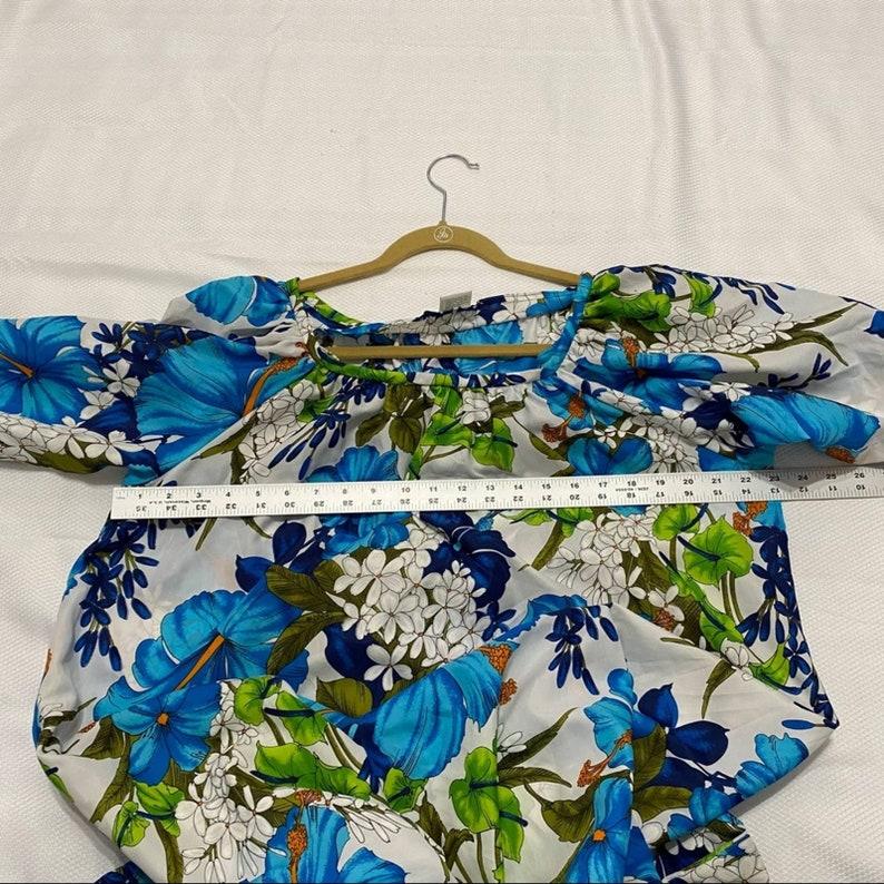 Vintage Hookano Blue Hibiscus Dress