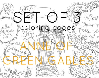 Anne of Green Gables Coloring page adult coloring literary   Etsy