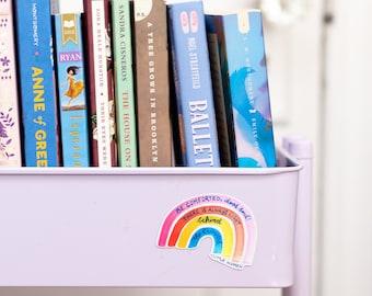 Little Women Rainbow Magnet - decorative magnet - book cart magnet