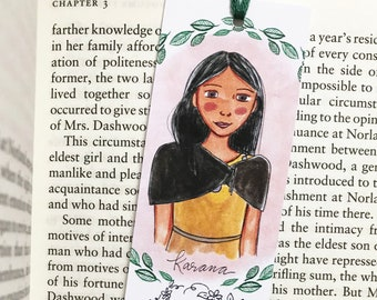 Karana Bookmark - Island of the Blue Dolphins - bookmark - handmade
