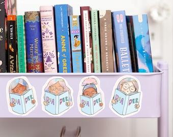 Reader Magnet - decorative magnet - single magnet - book cart magnet