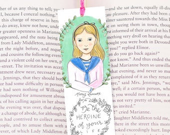 Mary Lennox Bookmark - Literary Heroine Bookmark - The Secret Garden - Frances Hodgson Burnett