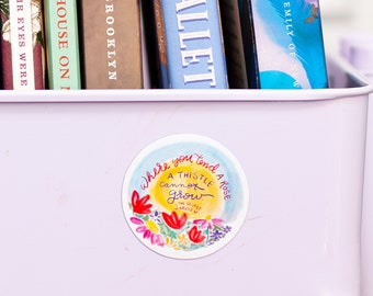 Secret Garden Magnet - decorative magnet - book cart magnet -Where you tend a rose