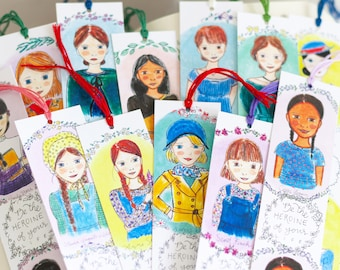 Literary Bookmark Set - Bookworm Gifts - You Choose Five