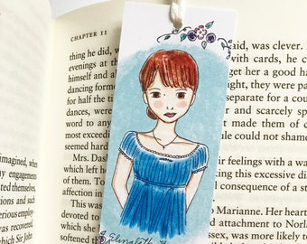 Pride and Prejudice Gift - Elizabeth Bennet - Jane Austen - bookmark