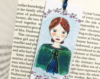 Jane Eyre Bookmark, literary bookmark, English teacher gift, book club gift, literary gift