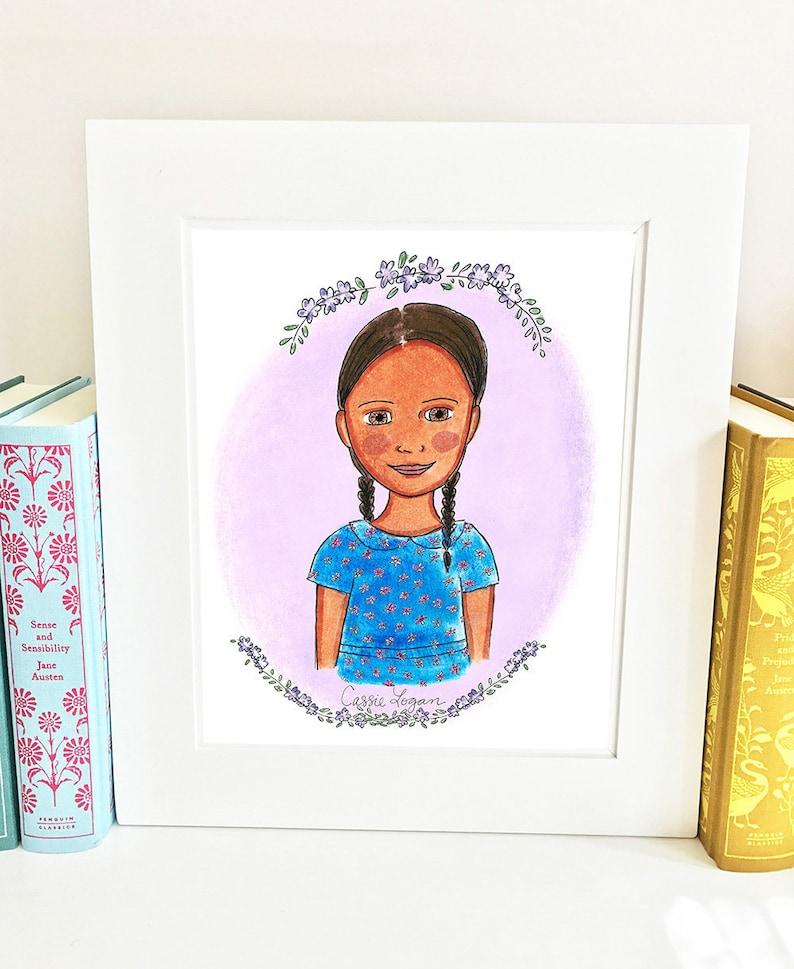 Cassie Logan print  illustrated  girls room decor  Roll of image 0
