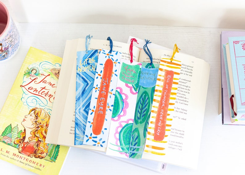 Book spine bookmarks  Literary gifts  Anne of Green Gables  image 0