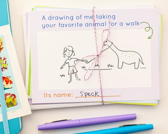 Pen Pal Note Cards Volume I - Grandparent/grandkid Pen Pal Note Card Set - Aunt/Niece/Nephew Pen Pal Note Card Set