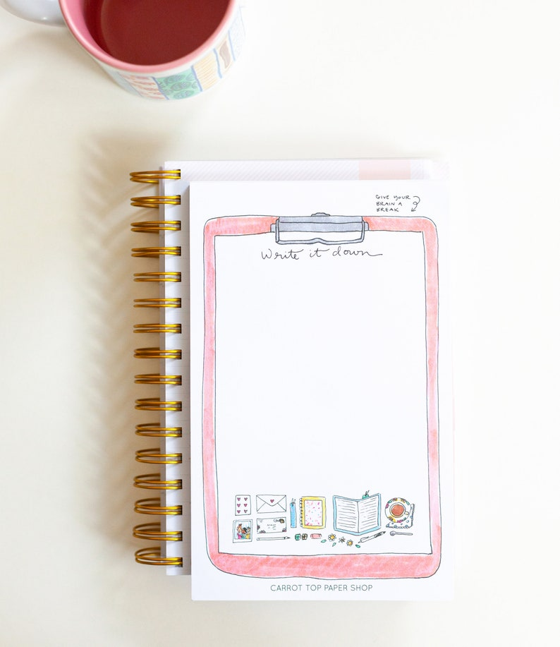 To do list notepad  Give your brain a break  Cute Notepad  image 0