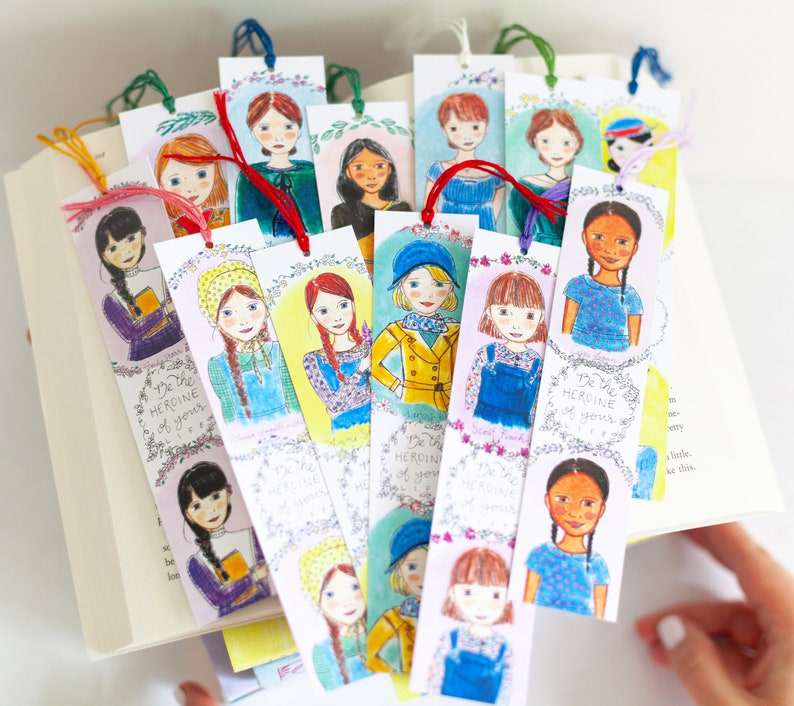 Literary Bookmark Set  Bookworm Gifts  You Choose Five image 0