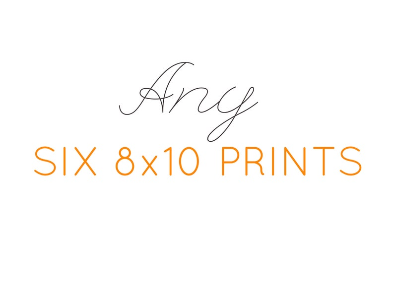 Any six 8x10 prints  Choose 6 prints  art prints for gallery image 0