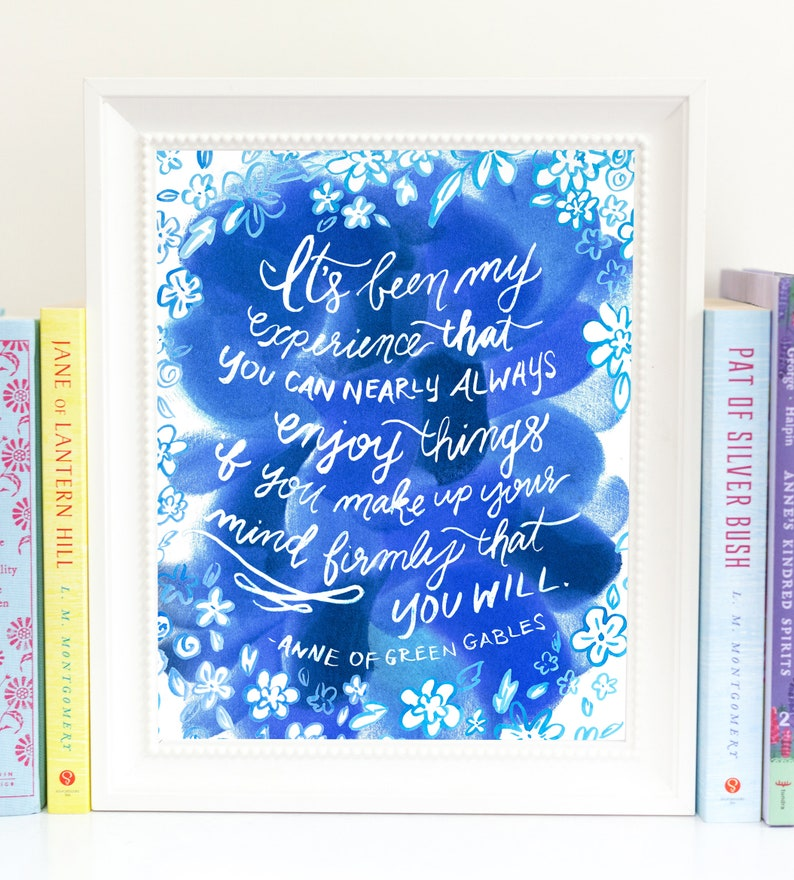 Anne of Green Gables Quote Digital Download  Girls Room Decor image 0
