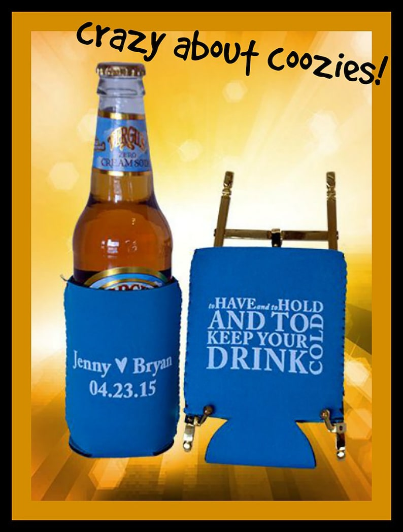 Coasters Banners /& More! Koozies Signs Planning a Wedding Party? Download our Fun Design for Invitations Stadium Cups Beverage Napkins