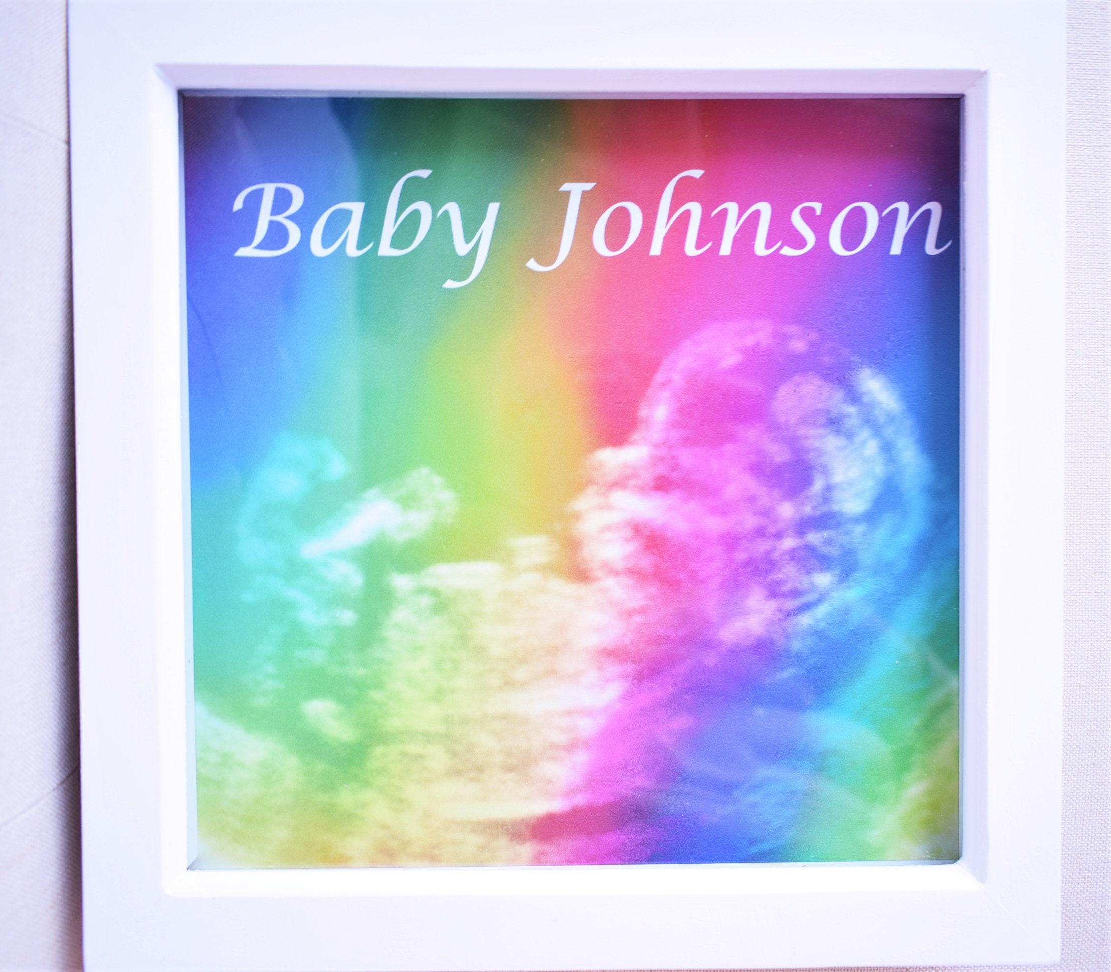 Baby-Scan Ultraschall Regenbogen Effekt persönlichen Andenken